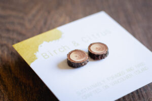 Sustainable Wood Earrings by Birch and Citrus
