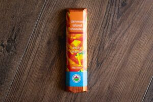 Zesty Orange Chocolate Bar by Denman Island Chocolate