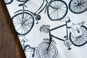 Bicycle Linen Tea Towel by Rain Goose