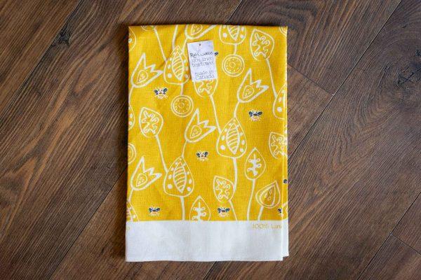 Bumble Bee Linen Tea Towel by Rain Goose