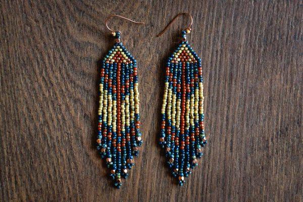 Southwest Fringe Earrings by JK Beadworks