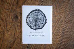 """Happy Birthday (But Who's Counting)"" Greeting Card by Hello Yellow Canary"