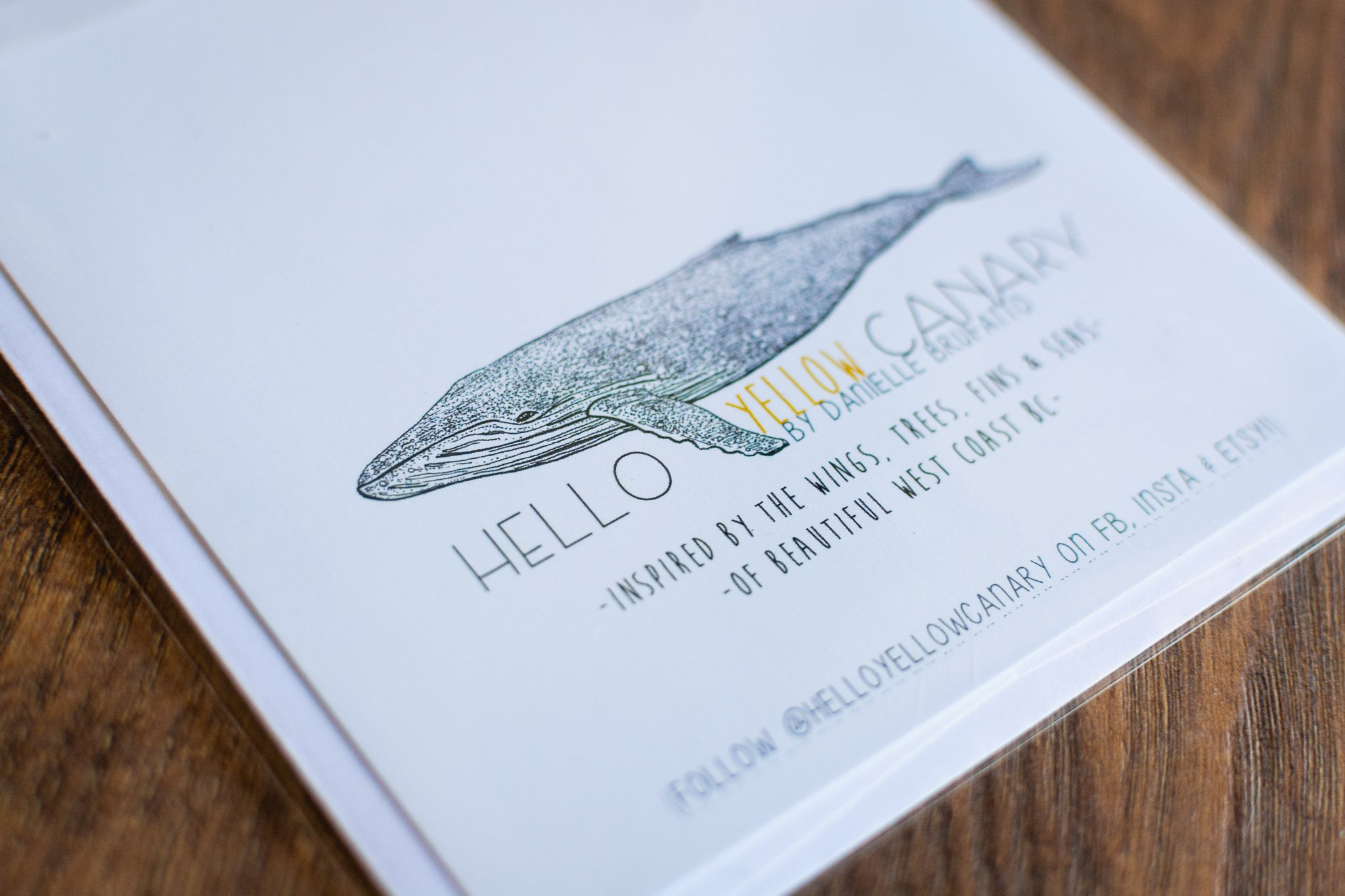 Hello Yellow Canary Greeting Card