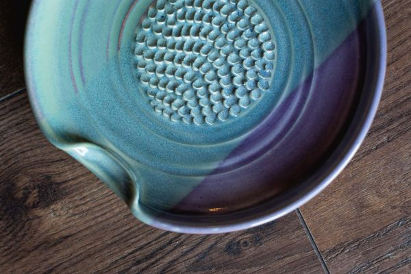 Ceramic Garlic and Ginger Grater Handmade by Dish Pottery