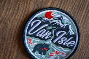 Van Isle Retro Patches and Stickers by Bough and Antler
