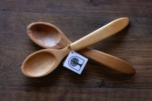Serving Spoons Made With Locally Sourced Wood