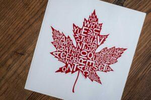 Canada Maple Leaf Bumper Sticker