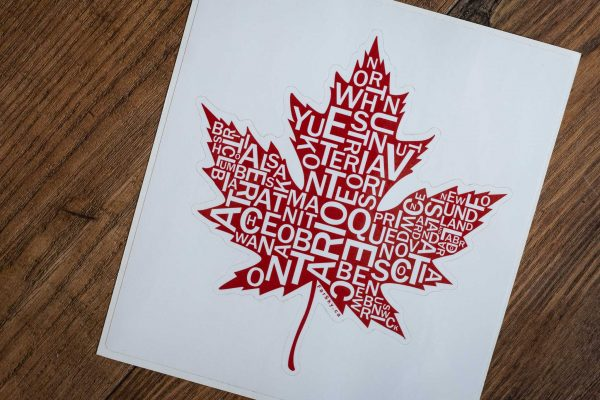 Canada Maple Leaf Bumper Sticker